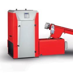 Caldera de astillas Lindner SL 30 a 150kW con 4 cilindros LKN