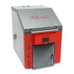 Caldera de leña Biotech HVZ Pro 35 de 30 a 49kW de carga superior